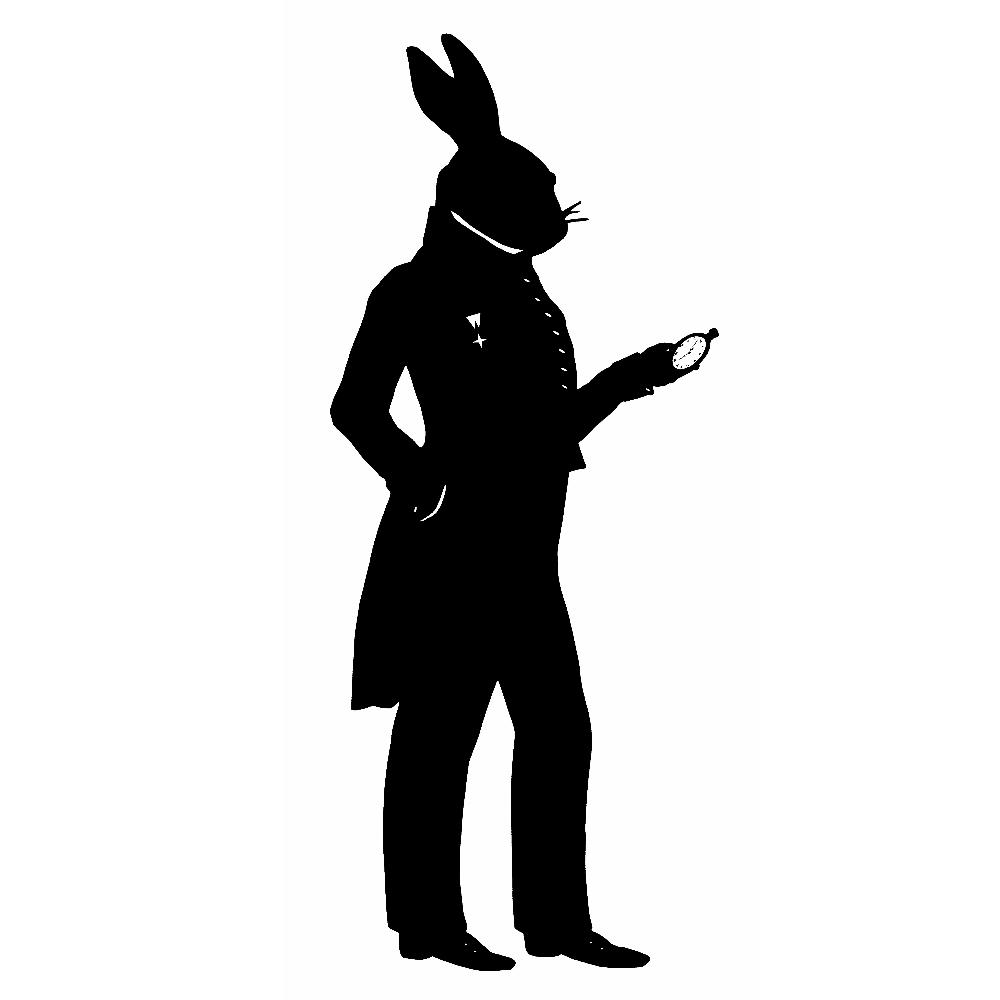 White Bunny Silhouette The white rabbitWhite Rabbit Silhouette