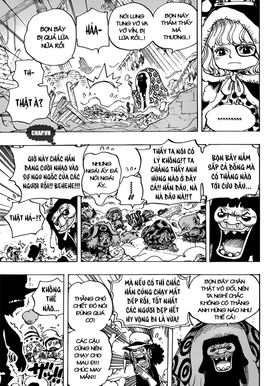 One Piece Chapter 741: Thần gió Usoland 007