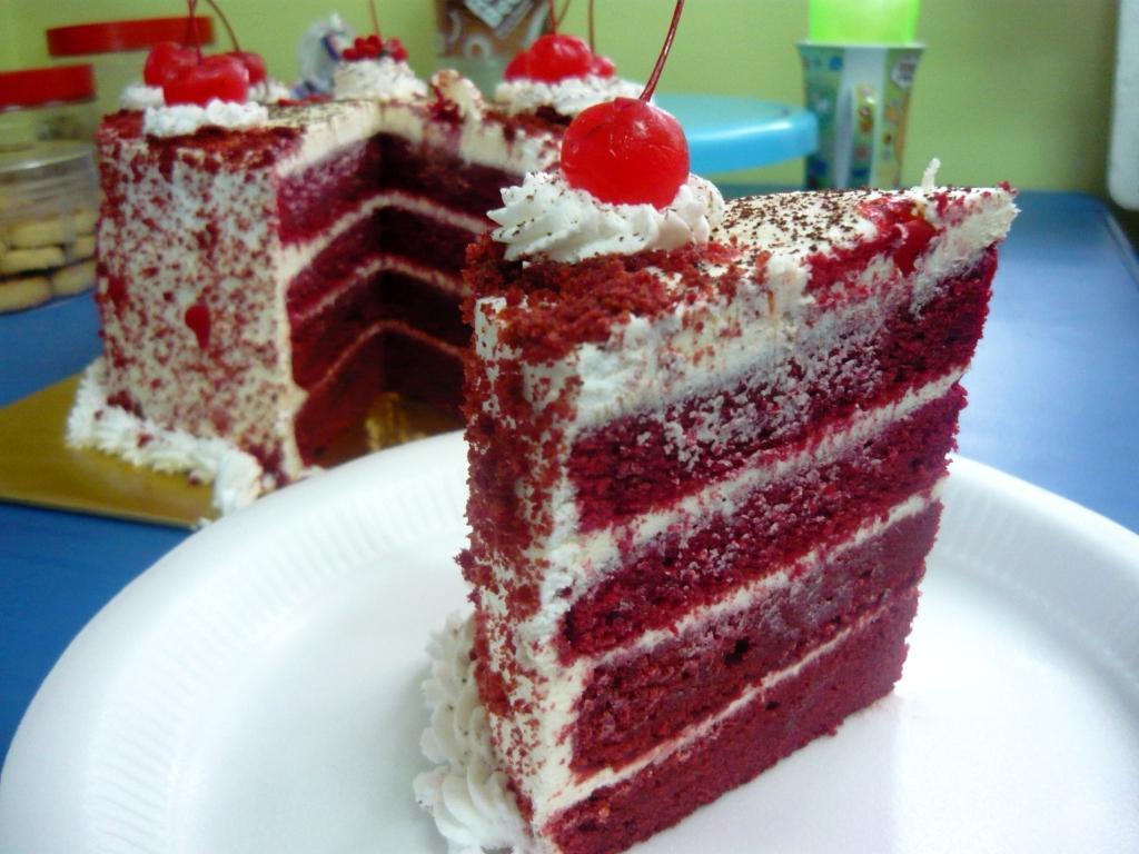 maka16/9/11tercipta la kek baldu merah ni