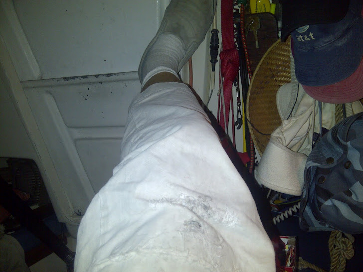 Pirate Fashion Statement!! lol! REAL PiRaTE PaNts!! (Mended at the knee with duck tape n thread)
