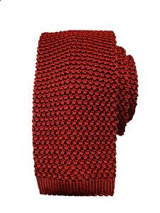 Plain Knitted Silk Tie