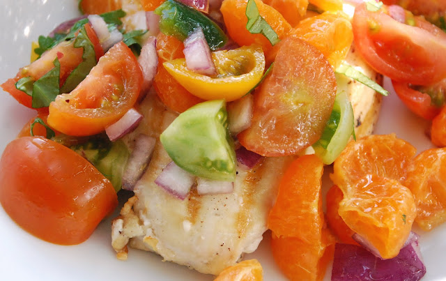 CupCakes and CrabLegs: Chicken with Clementine Salsa