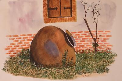 aquarel·la,acuarela,watercolor,rmora,roger mora,paisatge,paisage,gerro,jardi,jardin,garden