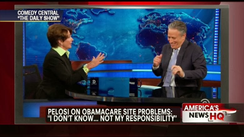 Nancy Pelosi strikes out on The Daily Show