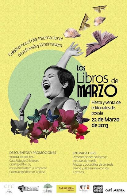 Los libros de Marzo en la Casa Refugio Citlaltépetl de la Condesa