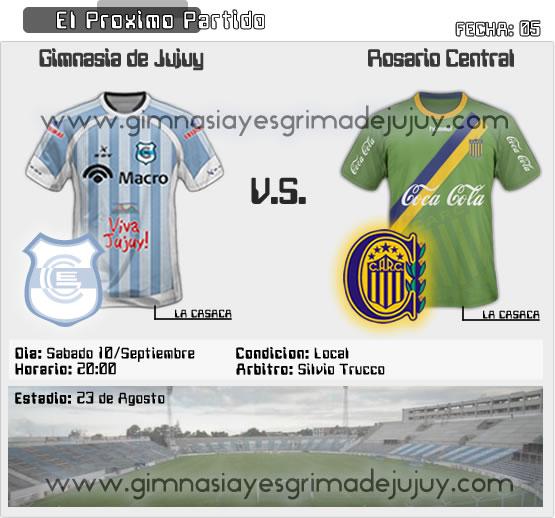 Fecha 05: Gimnasia de Jujuy vs Rosario Central - B Nacional
