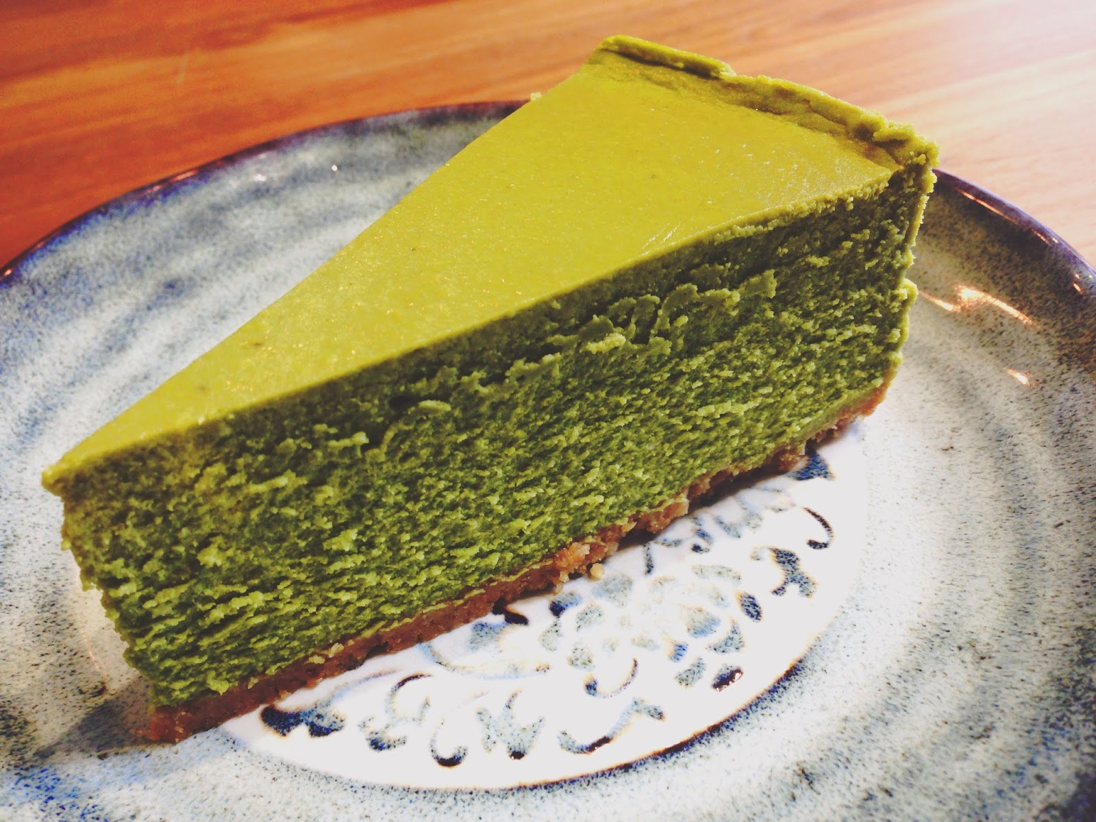 Teakha Sheung Wan Hong Kong Green Tea Mousse Cake