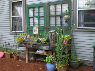 Potting Bench with Recycled doors