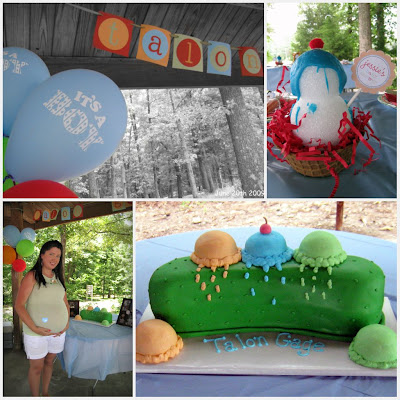 "Check out the fabulous 'Pickles & Ice Cream"" cake! Too cute!"