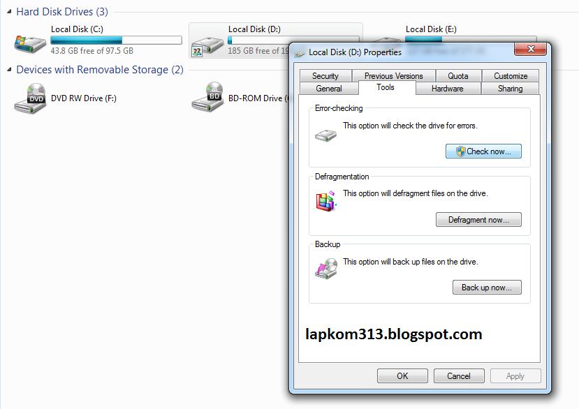 Cara Memperbaiki Hardisk Rusak Badsector Dengan Tool Windows Cara