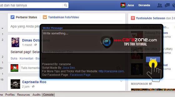 Cara Kirim Pesan Otomatis Kesemua Teman Facebook