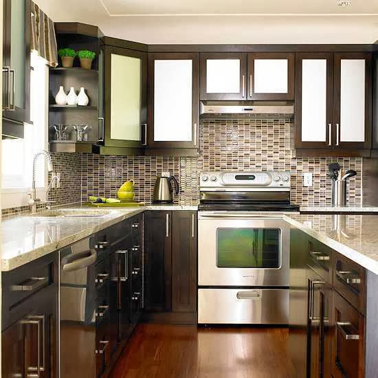 Kitchen With Contrast Colors