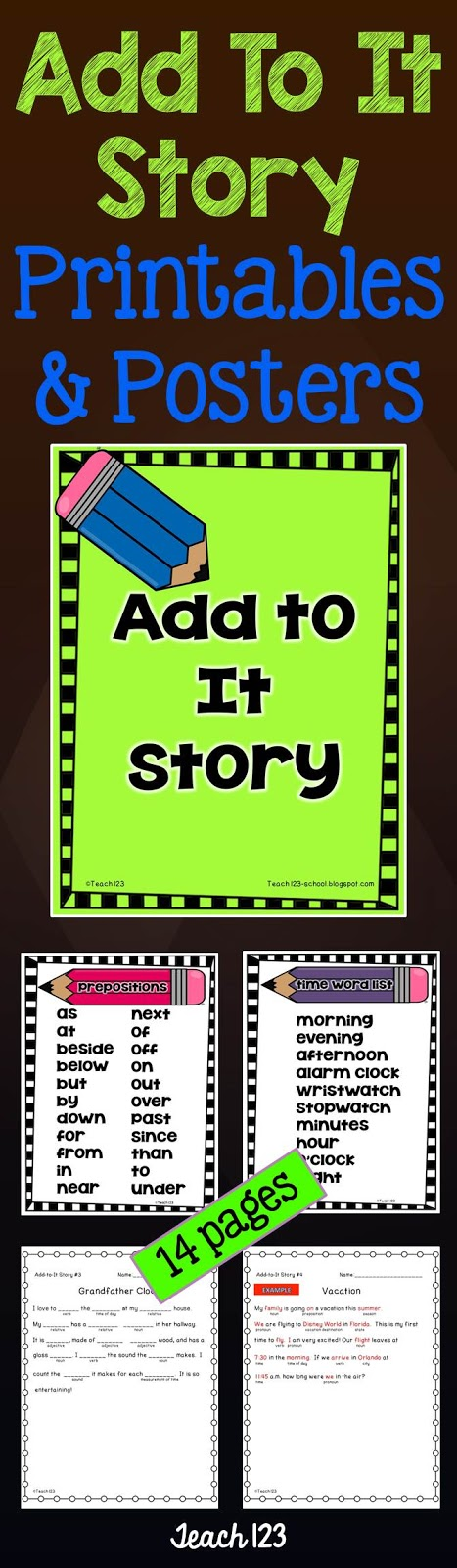 Teach 123's Add To It posters and printables at TeachersPayTeachers
