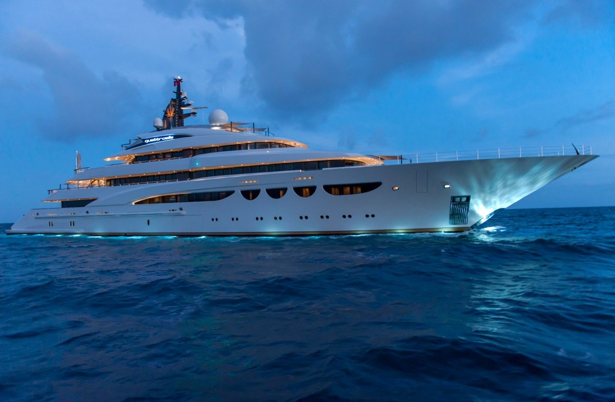 Superyacht QUATTROELLE at Night