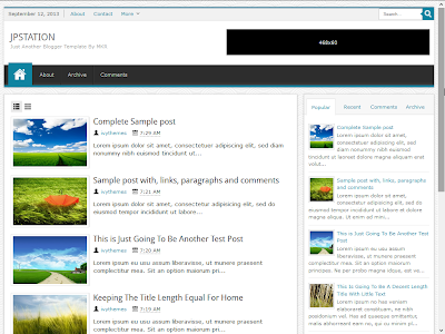 JPStation Responsive Blogger Template