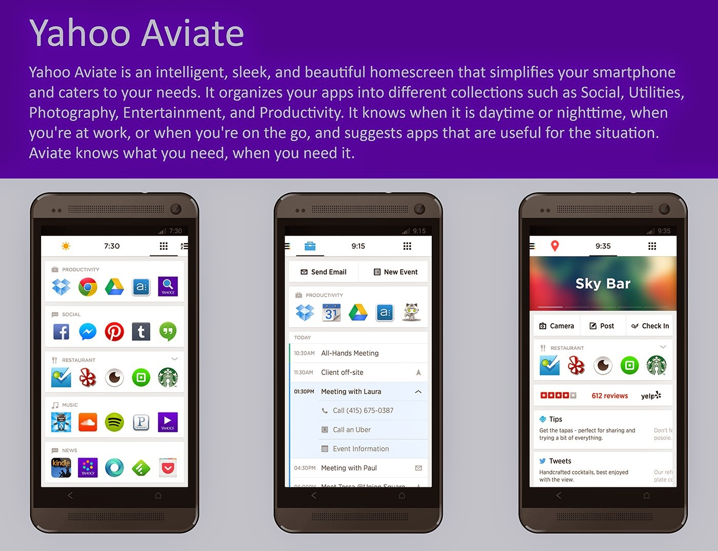 Yahoo Aviate