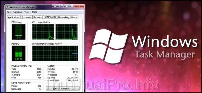 6 cách để mở Windows Task Manager