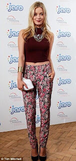 Laura Whitmore, MTV, Floral Print, Straight Leg, Trousers, Jaro, Party