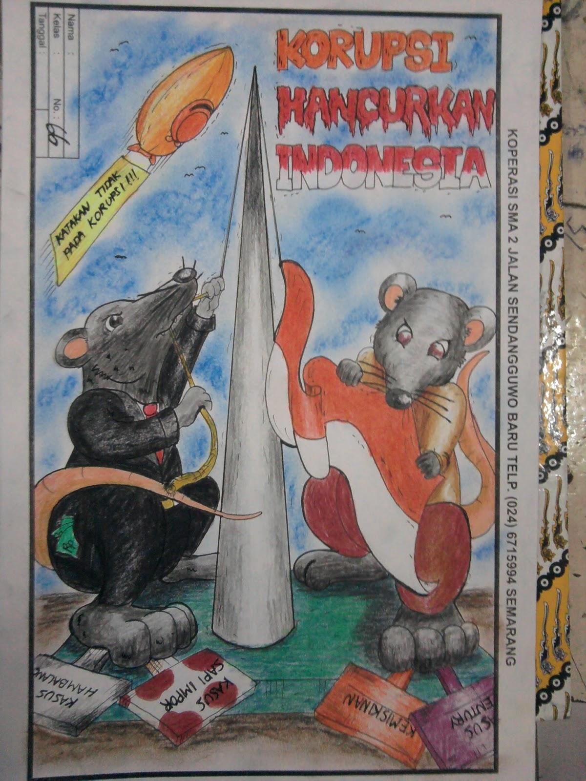 Kuass Sma N 2 Semarang Lomba Gambar Poster Anti Korupsi