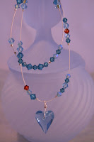 The Blue Heart - Swarovski crystals, Sterling Silver, Wire wrapped :: All Pretty Things