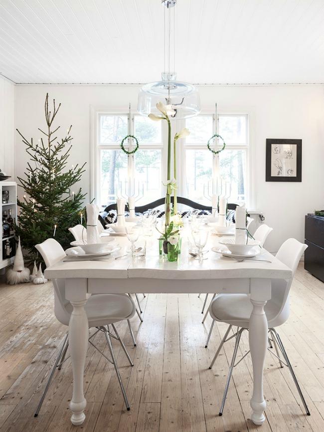 blanco en navidad