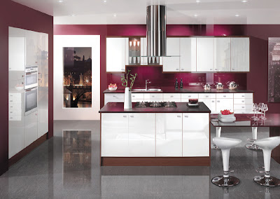 dream kitchen in purple