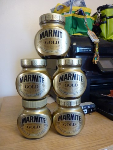 Whoopidooings: TREASURE! Gold Marmite.
