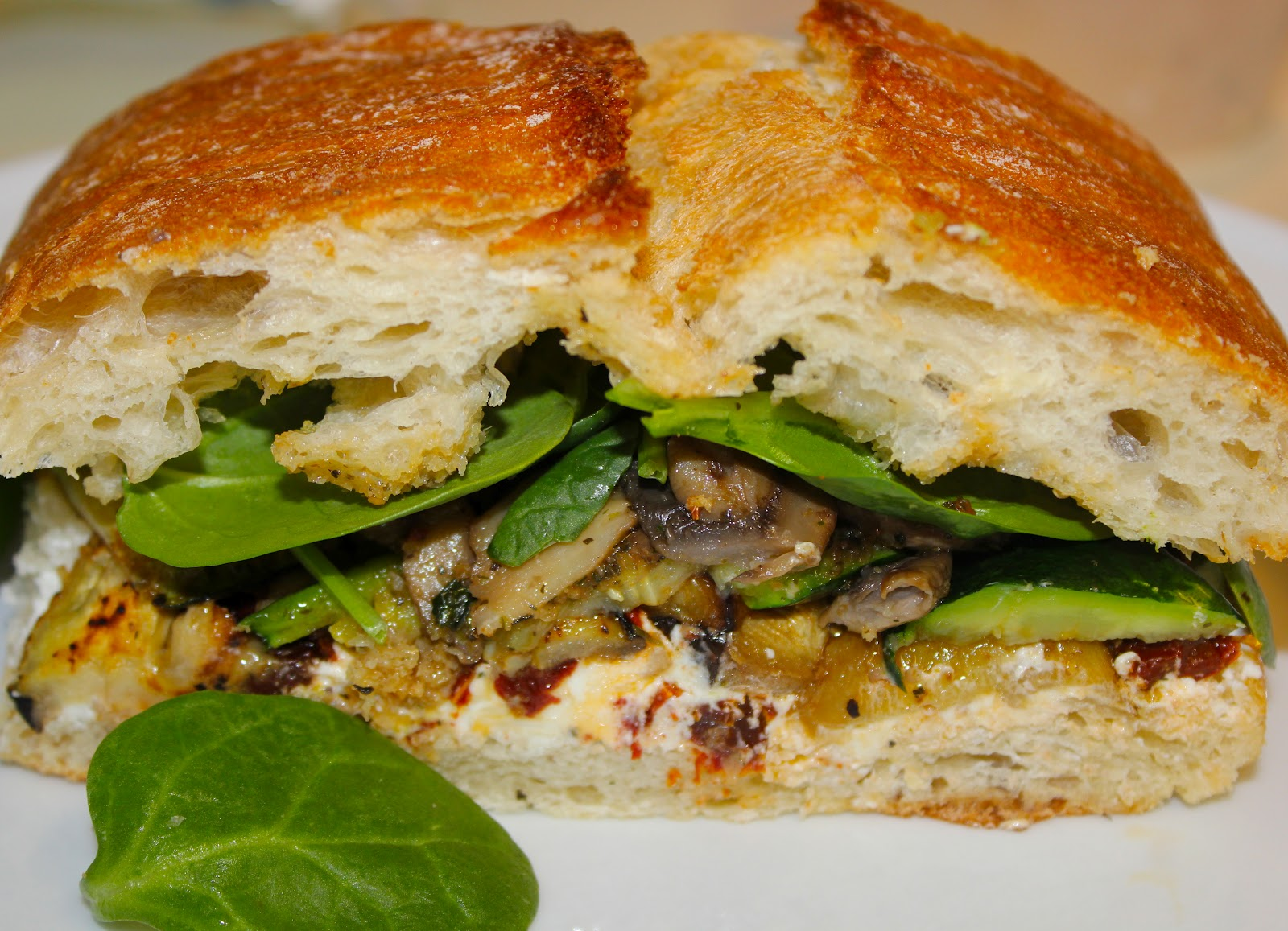 Smart-Bottom Enterprises: Vegetable and Goat Cheese Sandwiches