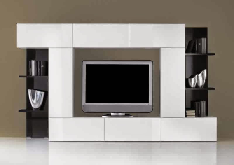 meuble tv avec rangement moderne meuble tv. Black Bedroom Furniture Sets. Home Design Ideas