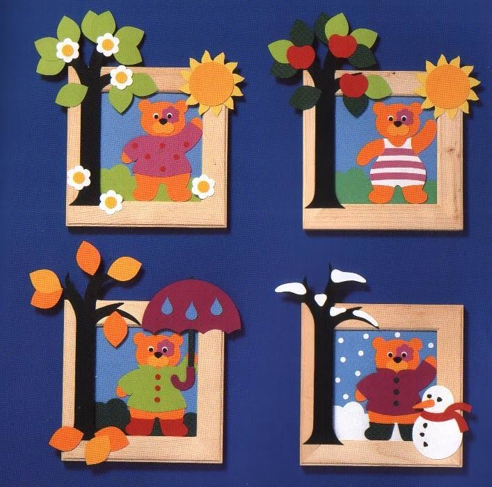 Pintinhas Amarelas ...: As 4 estacoes do ano (com molde)