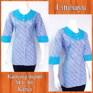 Baju Blouse Batik Lituhayu DBT 4210