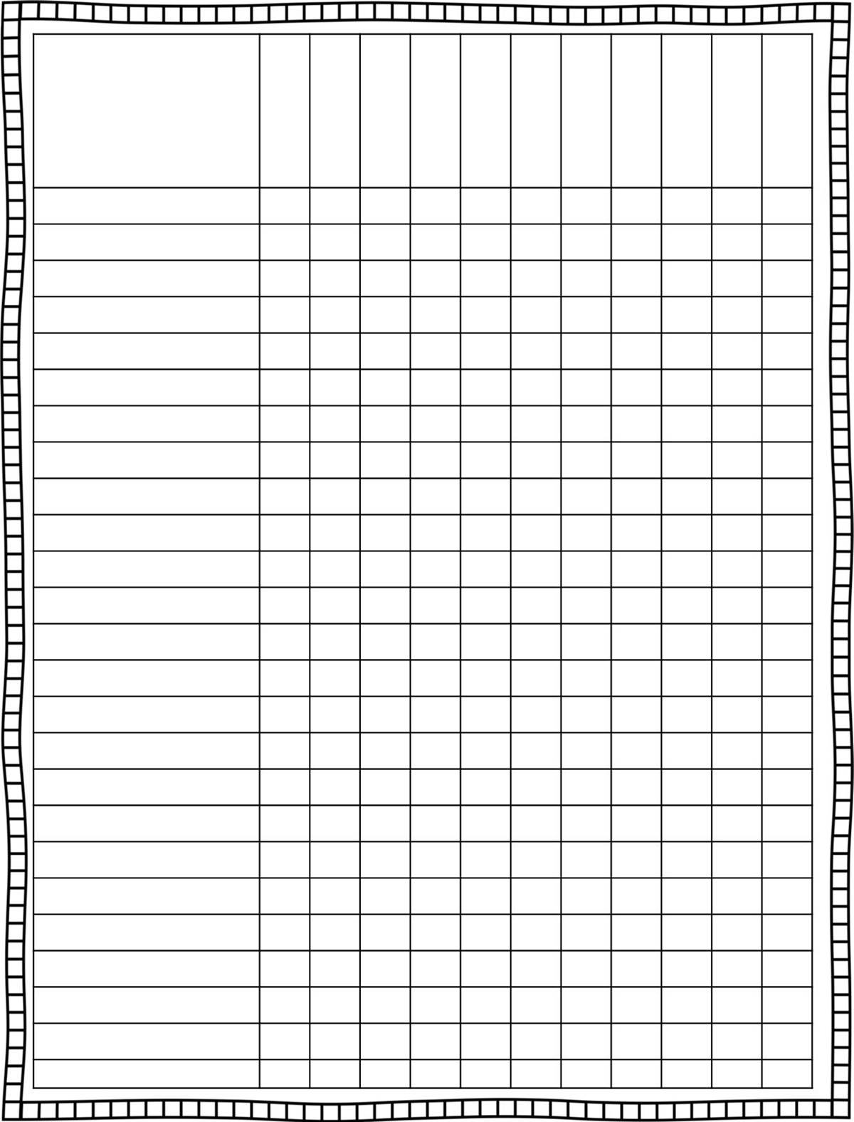 Class+Grade+Sheets Printable Blank Roster Sheets Baseball 1275 · 1650