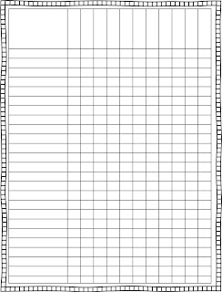 Finally, a cute lesson plan template. It looks crooked but it's not ...