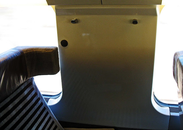 seat inside a train