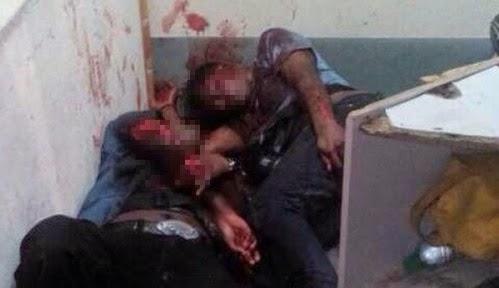 2 pengawal ditetak 15 lelaki, info, terkini, berita, ngeri,