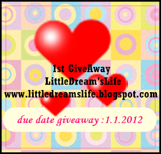 1st GiveAway Little Dream's Life