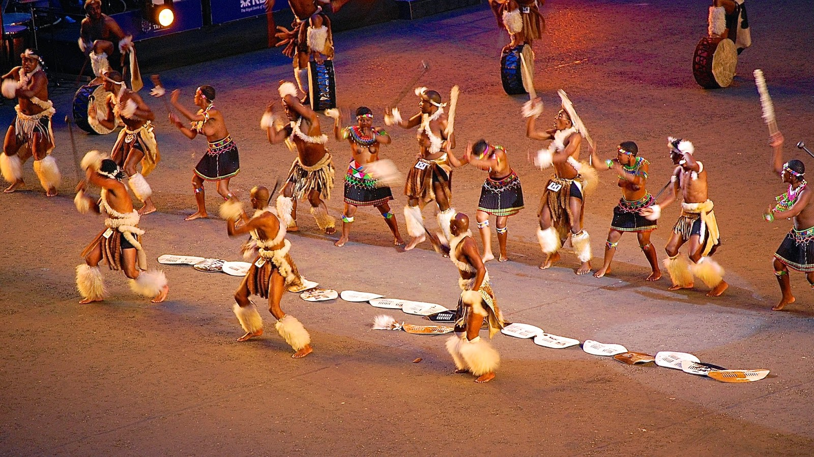 Zulu dancers at Royal Edinburgh Military Tattoo