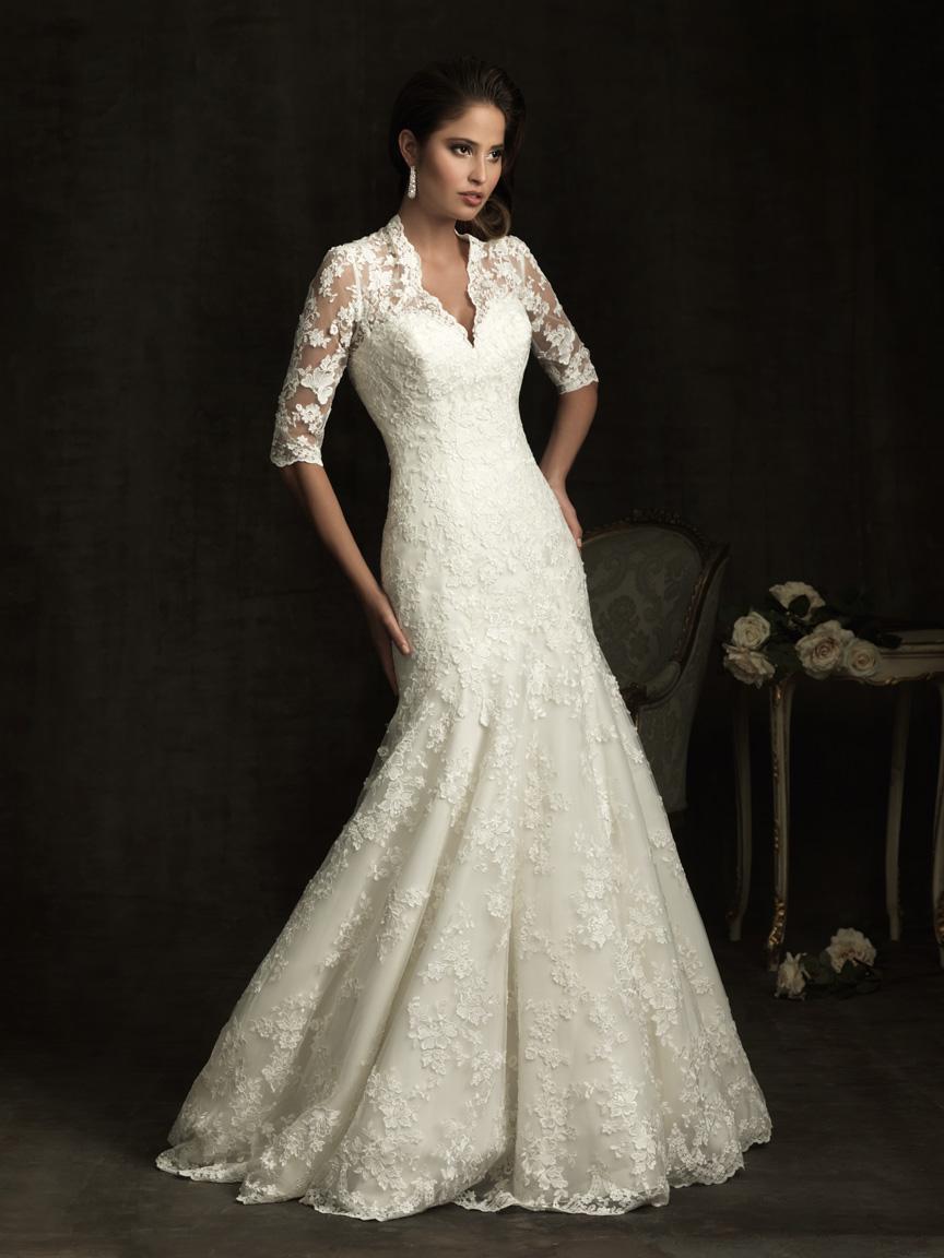 Bridal expressions wedding dress designer spotlight allure for Allure modest wedding dresses