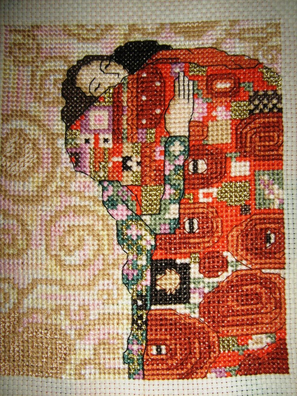 Схемы для вышивки картин климта