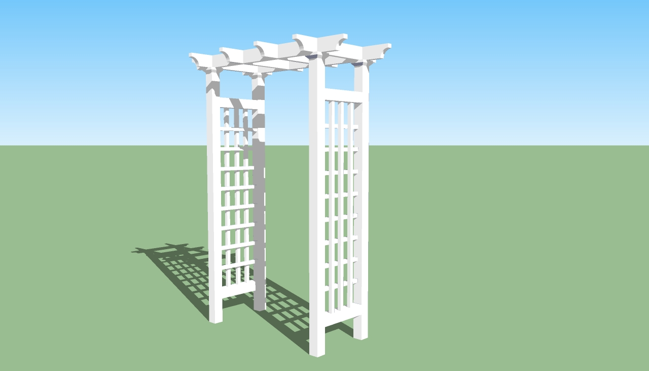 Wood arbor kits arbor decal galleries for Wood design plans