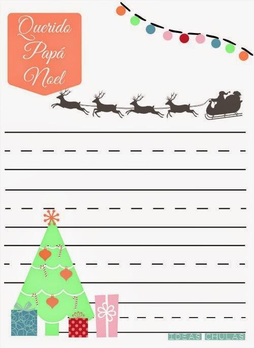 Carta para Papa Noel Imprimible
