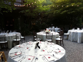White and red decor for wedding reception at JM Cellars - Photo by Patricia Stimac