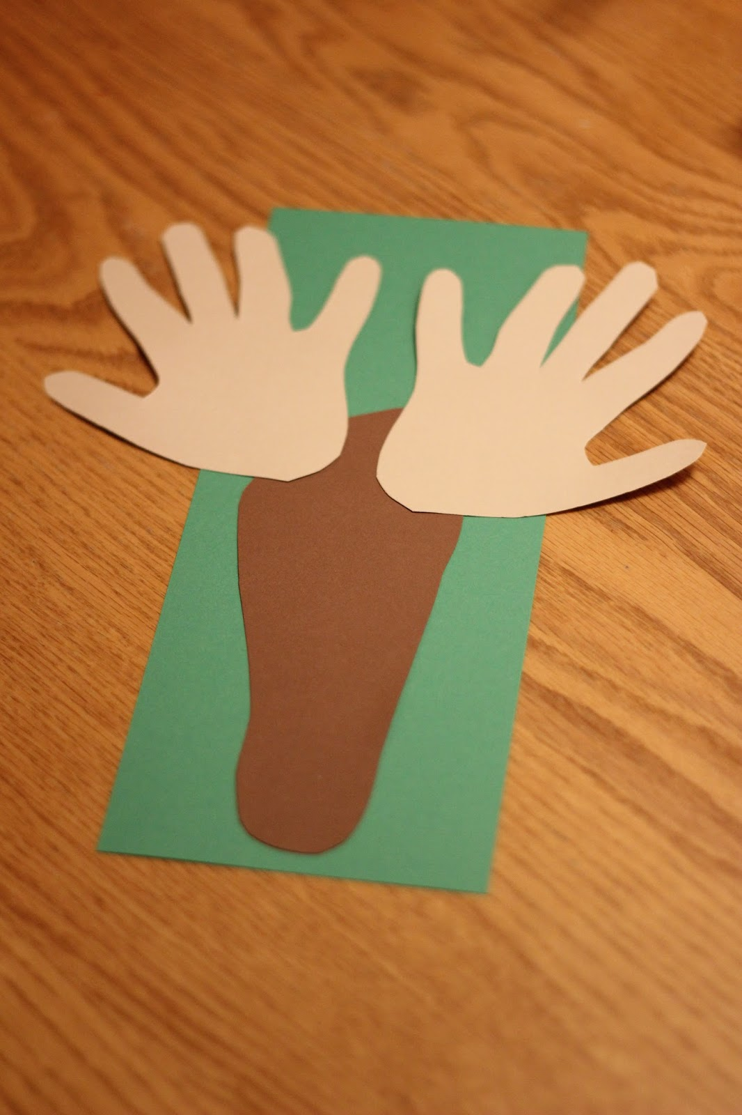 Toddler Approved Handprint And Footprint Reindeer Thank