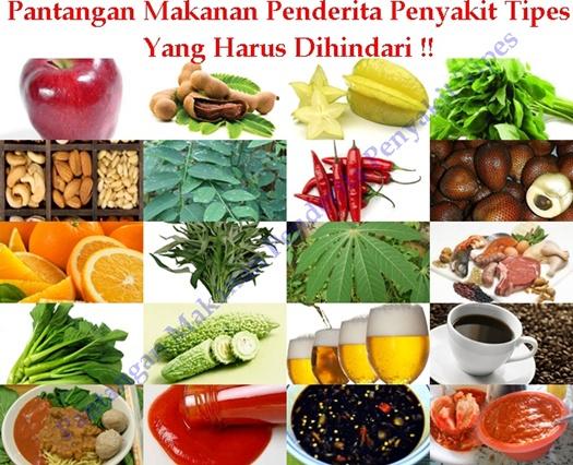 Pantangan Makanan Penderita Penyakit Tipes