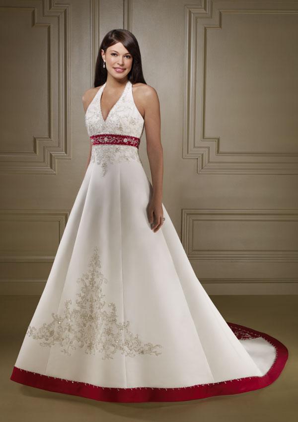 Goalpostlk white and red wedding dresses for Red and white wedding dress