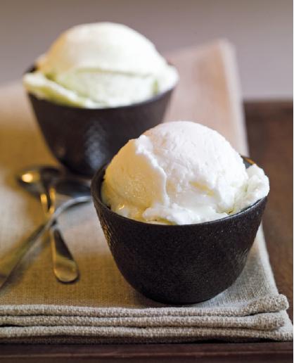 gelato bianco alla polpa di cocco e cacao, una miniera di mct e antiossidanti