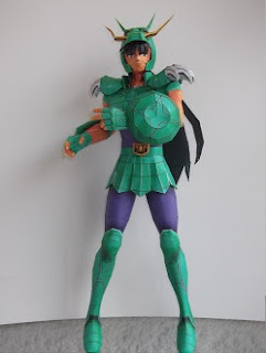 Saint Seiya - Dragon Shiryu Papercraft