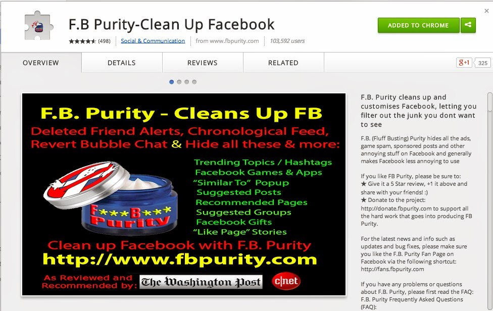 Tired of seeing all kinds of extra stuff in your FB feed? Try F.B. Purity :: OrganizingMadeFun.com