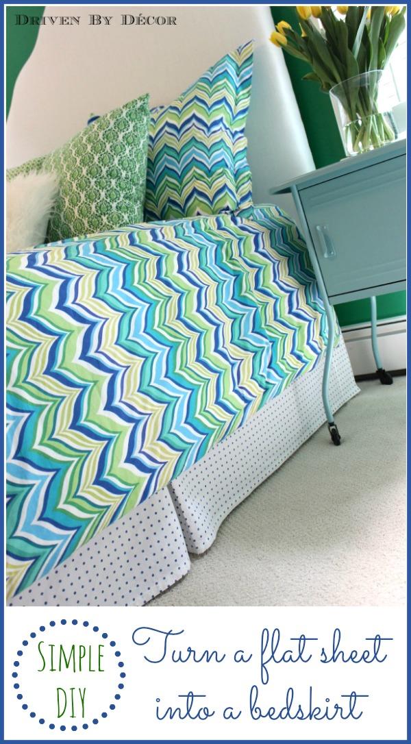 Make A Bed Skirt Out Of A Flat Sheet