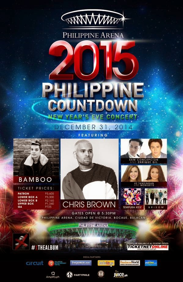 Chris Brown, Bamboo, Enrique Gil, Sam Concepcion to stage concert in Philippine Arena